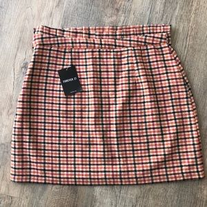 NWT Forever 21 Fall ruffle pleat waist skirt L